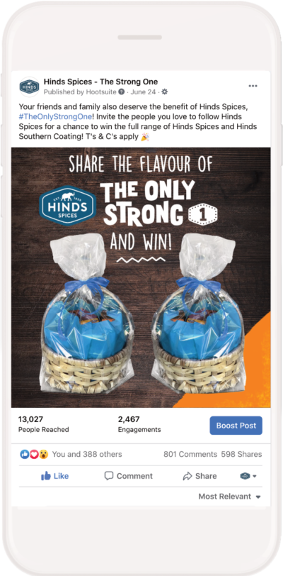 Gallant Marketing Group - Hinds Spices - Facebook Campaign - Example 4