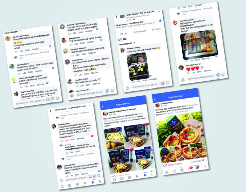 Gallant Marketing Group - Hinds Spices - Facebook Customer Engagements
