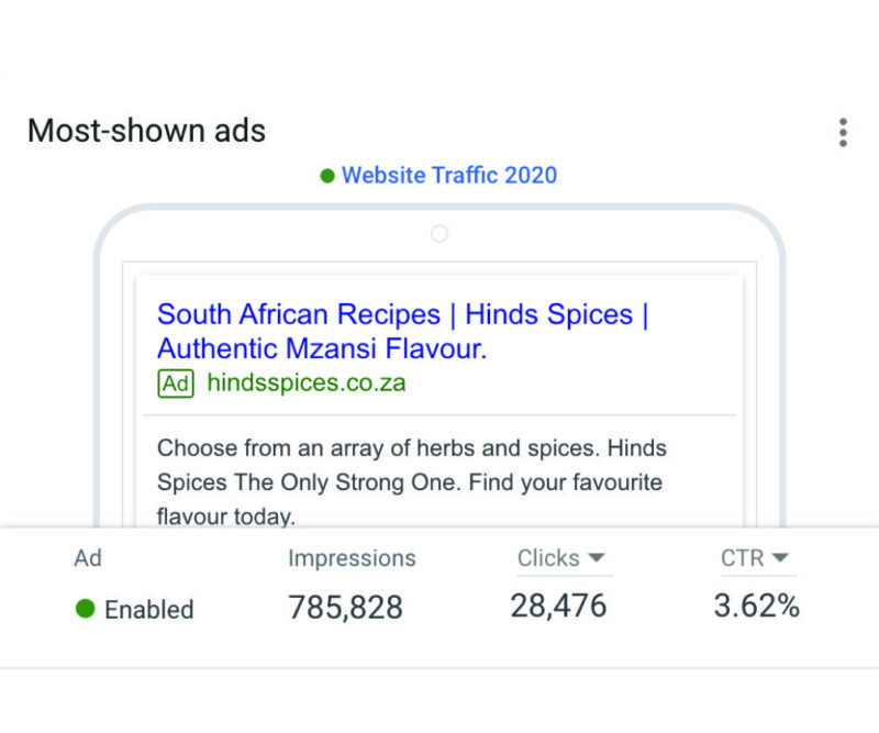 Gallant Marketing Group - Hinds Spices - Google Ads